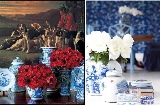 Blått och blomster
