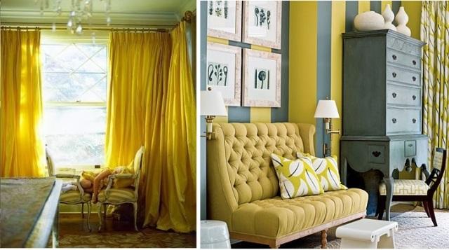 gult siden och gul och grå combo