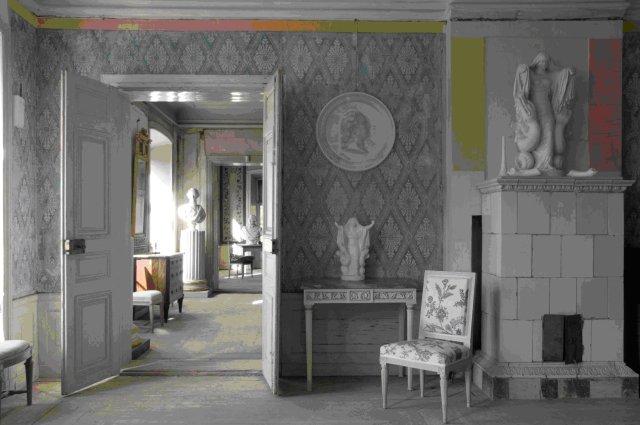 Lars SjöbergInteriör från ett av Lars Sjöbergs hus