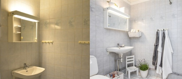 Duschrum före och efter