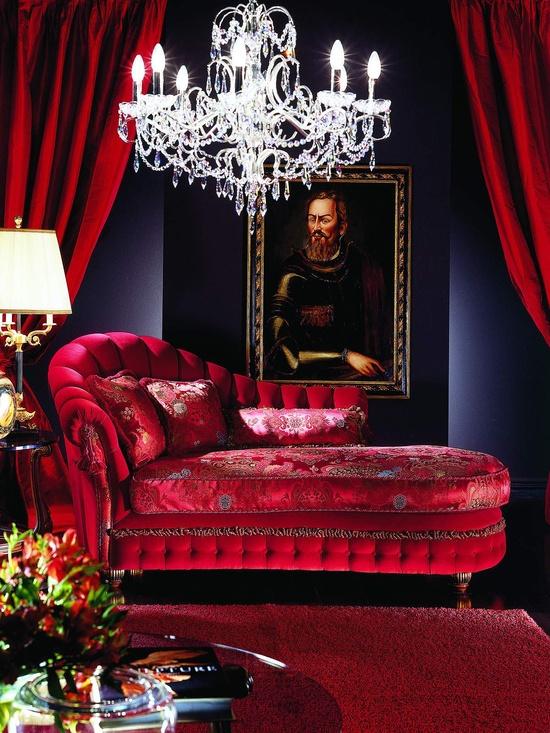 Röd divan