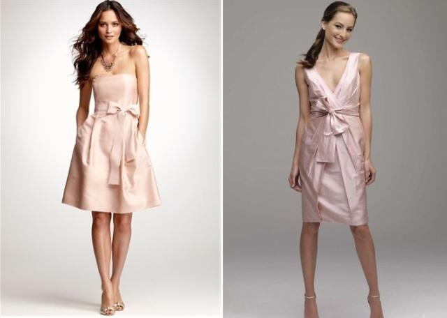 rosa sidenklänningar
