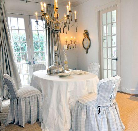 grå vit bordsduk