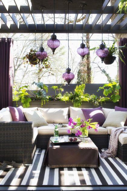 lounge chairs on balcony