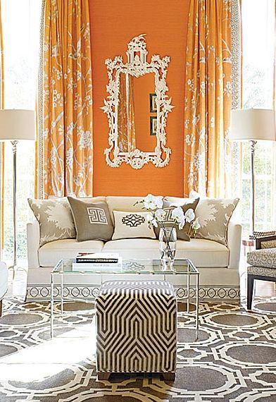 orange vägg
