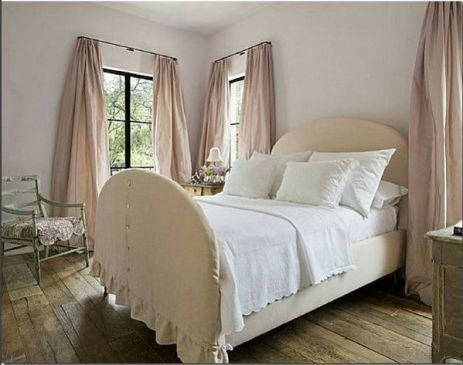 Pale pink curtains