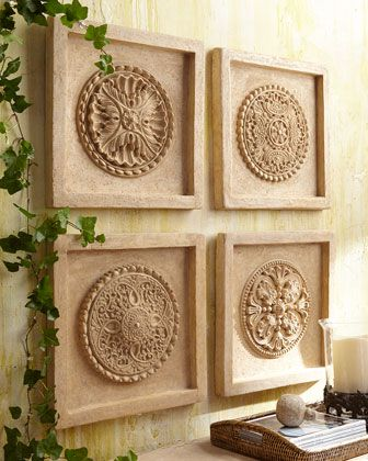 but could be made with ceiling medallions and mdf squares
