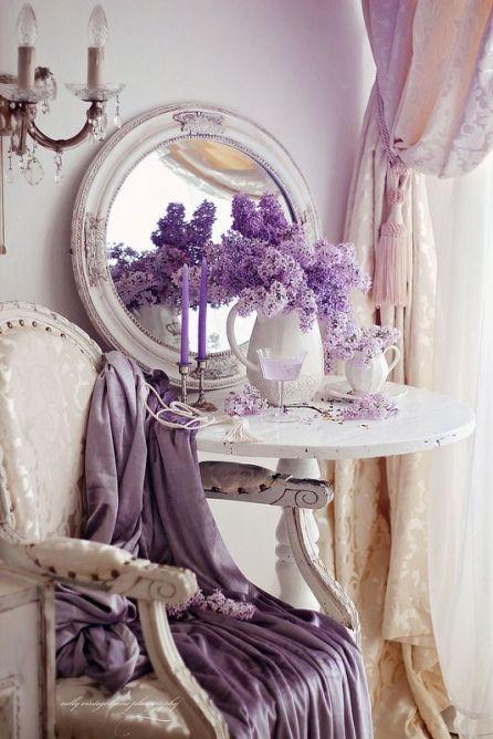 elegant med lila