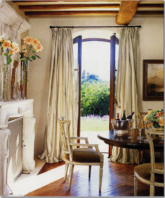french doors drapes
