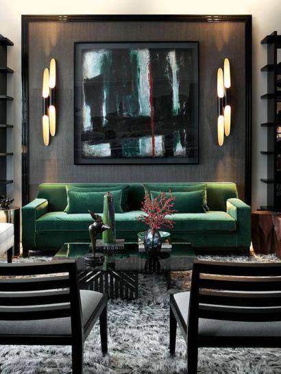 grön sammet soffa